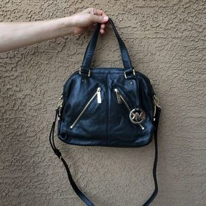 Michael Kors Black Portland Medium Satchel